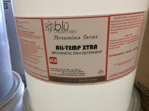 All-Temp Xtra Mechanical Dish Detergent – 5 gallon